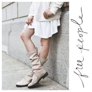 """FREE PEOPLE """"Evertte"""" Slouchy Suede Boots"""